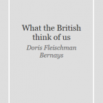 What the british think of us