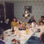 Durante una cena con colegas y amigos