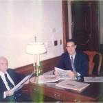 El Dr. Bernays y José Daniel Barquero en Harvard