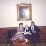 Previo a una reunión con el Presidente de Harvard