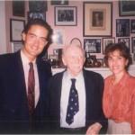 Pepe y Diana, en aquella época novios, hoy casados, junto al Dr. Bernays