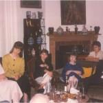 Profesores y académicos en casa del Dr. Bernays
