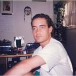 José Daniel Barquero en su casa de estudiante, que compartía con Pepe, en el 21 de Temple Street, en Boston