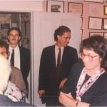 Pepe y José Daniel Barquero en casa del Dr. Bernays